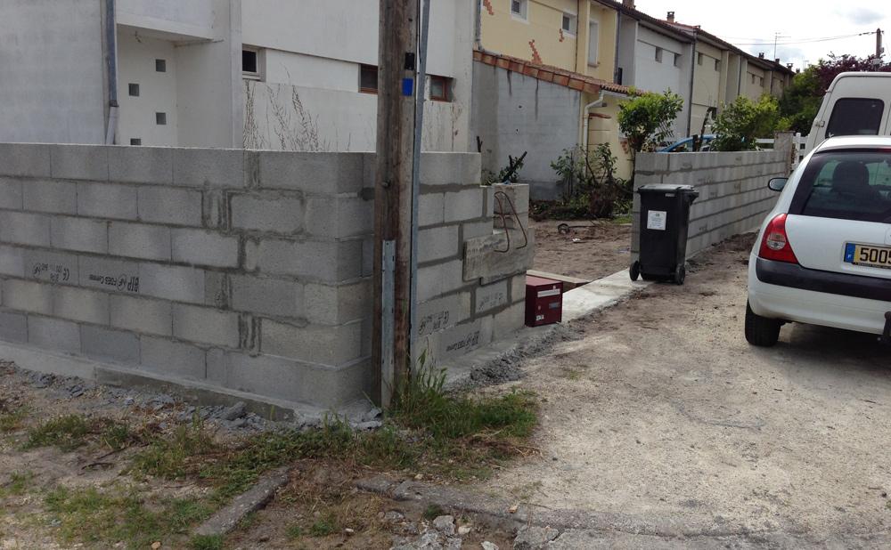 clôture maçonnée